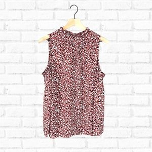 Torrid Walnut Leopard Georgette Mock Neck Top